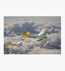 B17 - 487th Bomb Group Photographic Print