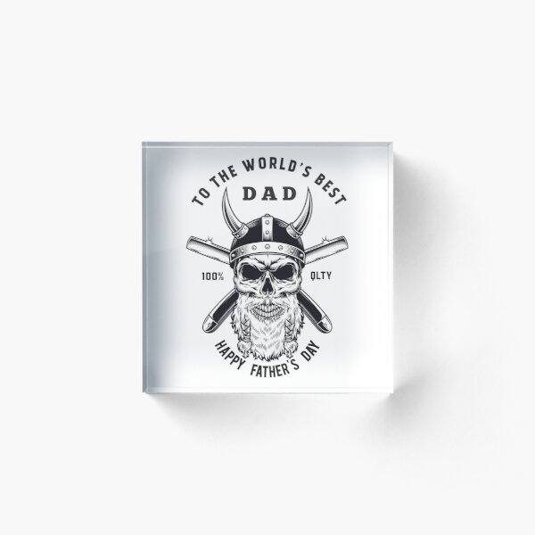 Happy Father's Day funny father gift Acrylic Block