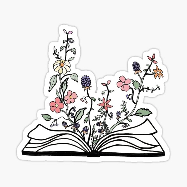 Flower Book Sticker