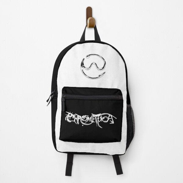 Lady Gaga Chromatica Logo (White Chrome on Black) Backpack