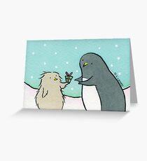 Penguin Christmas - Thanks for the Fish Grußkarte