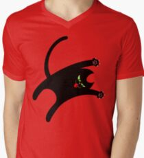 NINJA CAT 1 Men's V-Neck T-Shirt