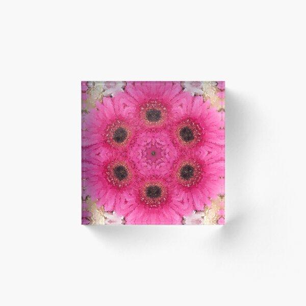 Floral Kaleidoscope Acrylic Block
