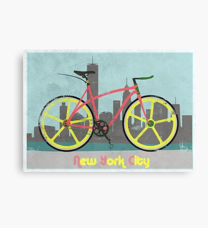 Love New York, Love to Cycle Canvas Print