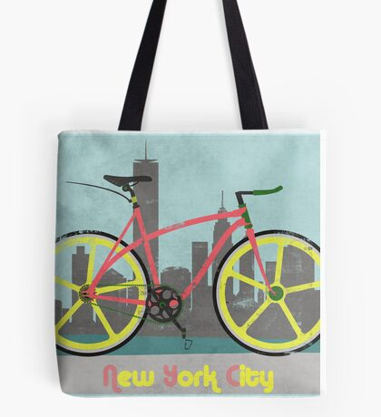 Love New York, Love to Cycle Tote Bag