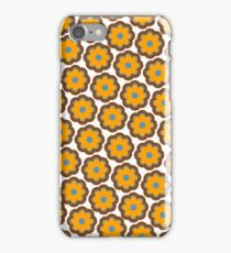 Retro colors floral pattern iPhone Case/Skin