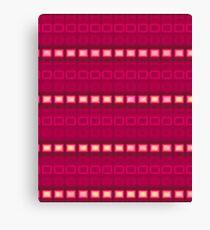Magenta red stripes - pattern Canvas Print