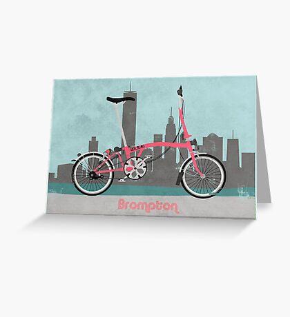 Brompton City Bike Greeting Card