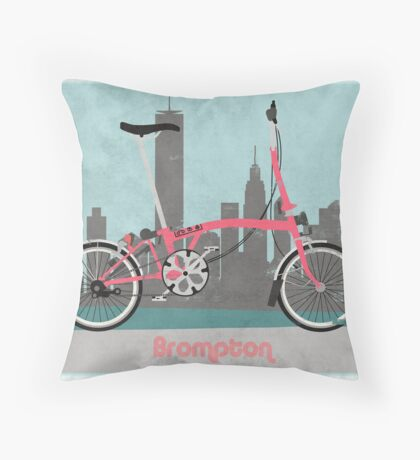 Brompton City Bike Throw Pillow