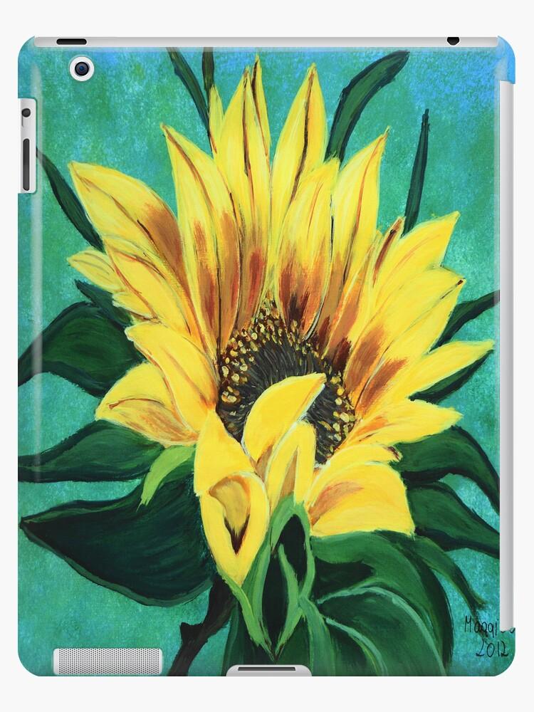 Sunflower Ipad case  by maggie326