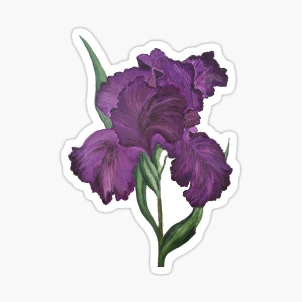 Purple Iris 1 Sticker