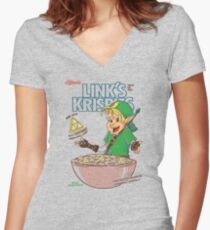 Link's Krispies Women's Fitted V-Neck T-Shirt