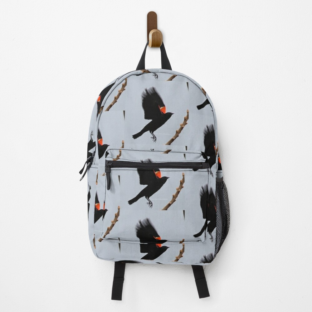Fly high, dear Red winged blackbird By Yannis Lobaina Backpack