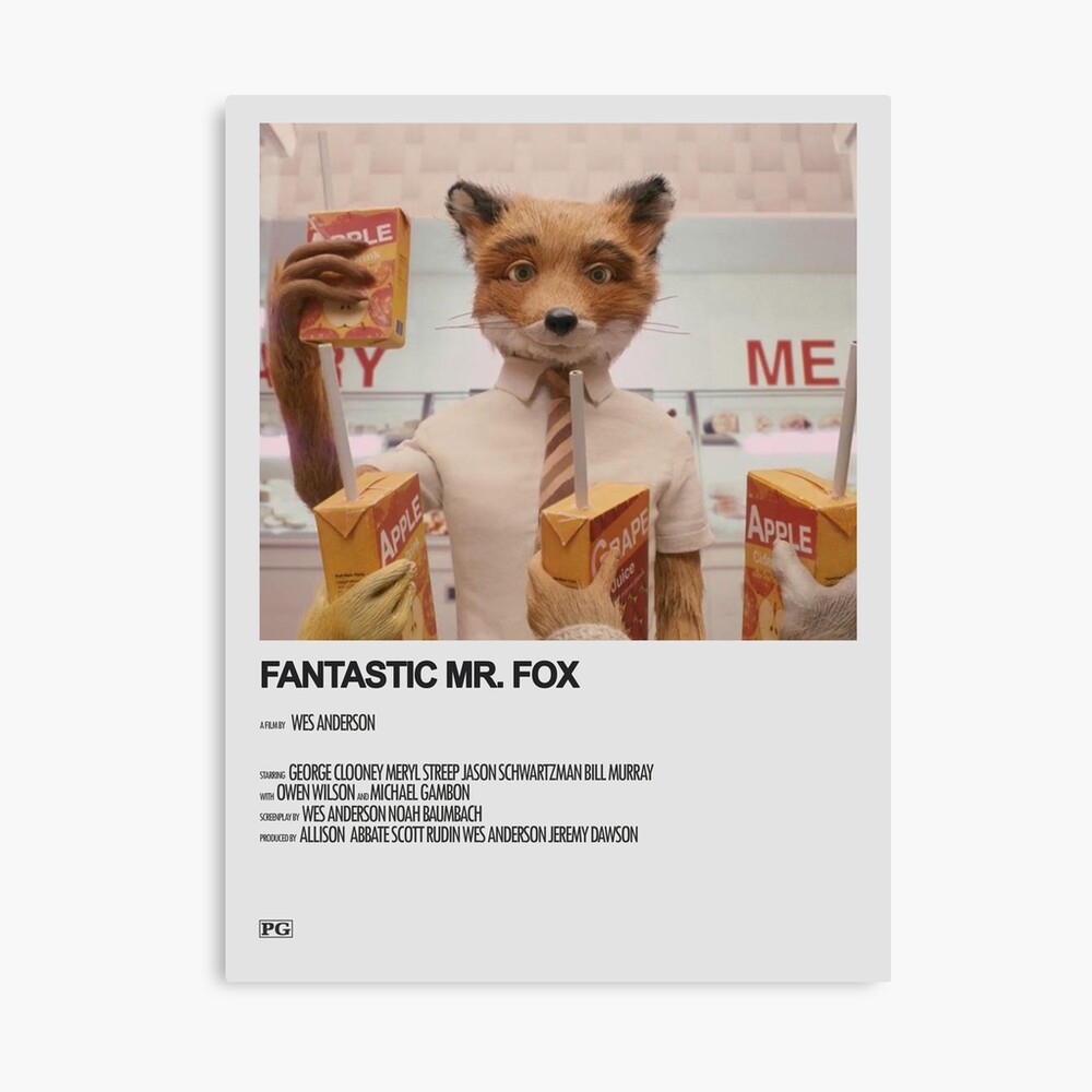 Fantastic Mr Fox Minimalistic Movie Poster Poster By Caitlinsposters Redbubble