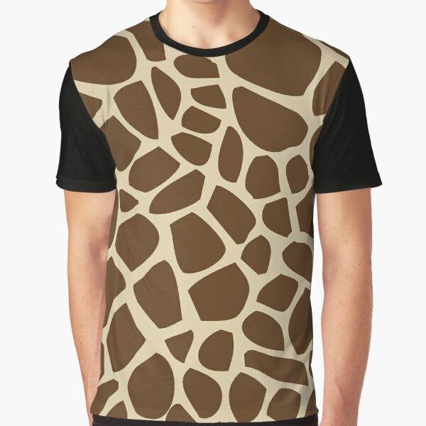 Giraffe Pattern Graphic T-Shirt