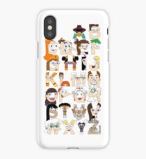 P&F Alphabet iPhone Case/Skin
