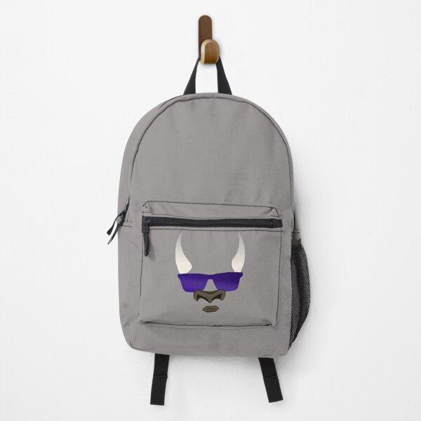 Bull Emoji With Glasses Design Backpack