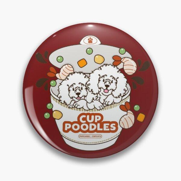 Cup Poodles [White Version] Pin