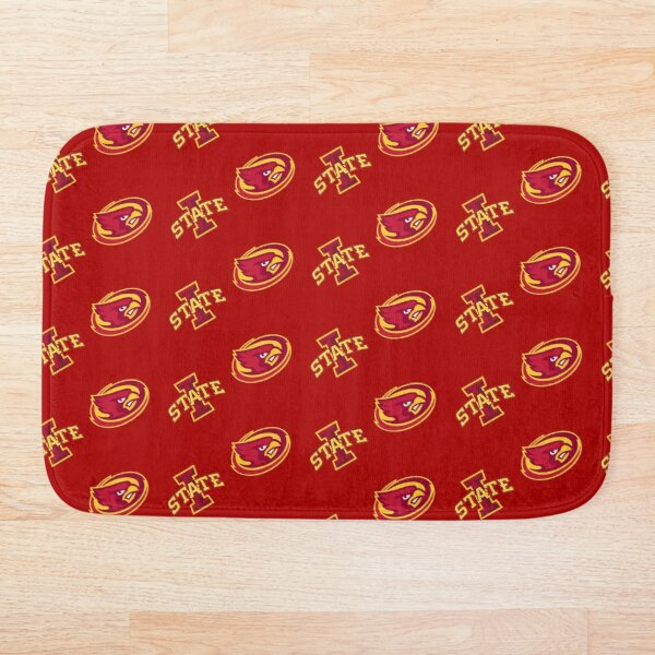 Iowa State Mask Pattern (Red) Bath Mat