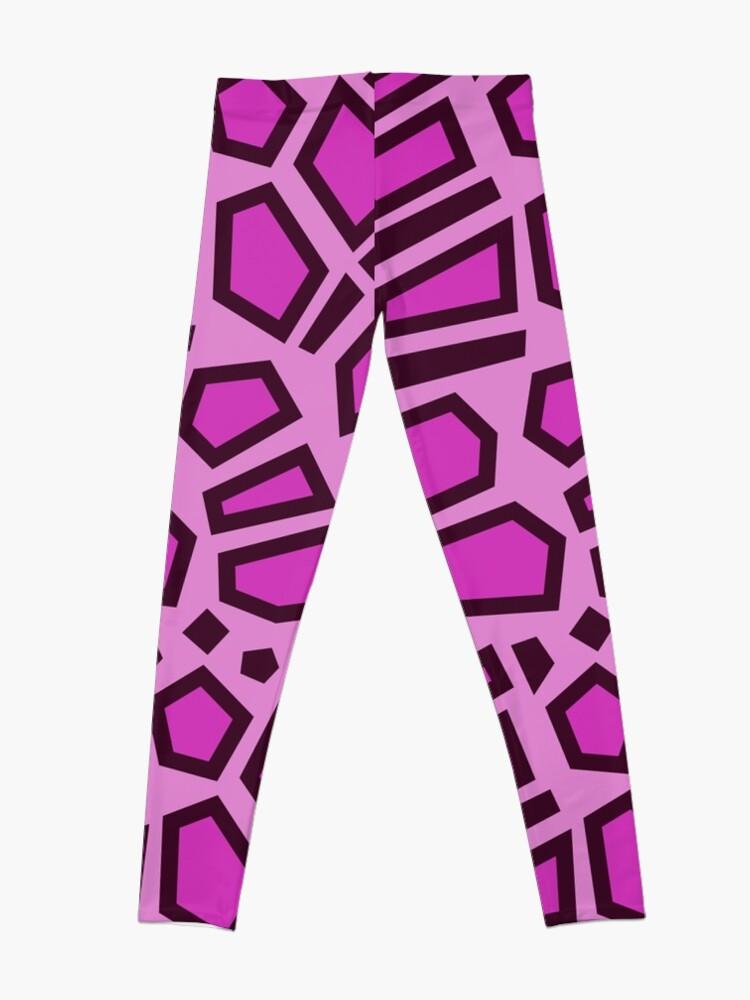 Alternate view of Kipo Pink Mega Jaguar Spots Leggings
