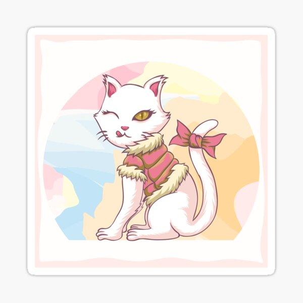 Pretty Kitty, Cat and Kitten Accessories Sticker
