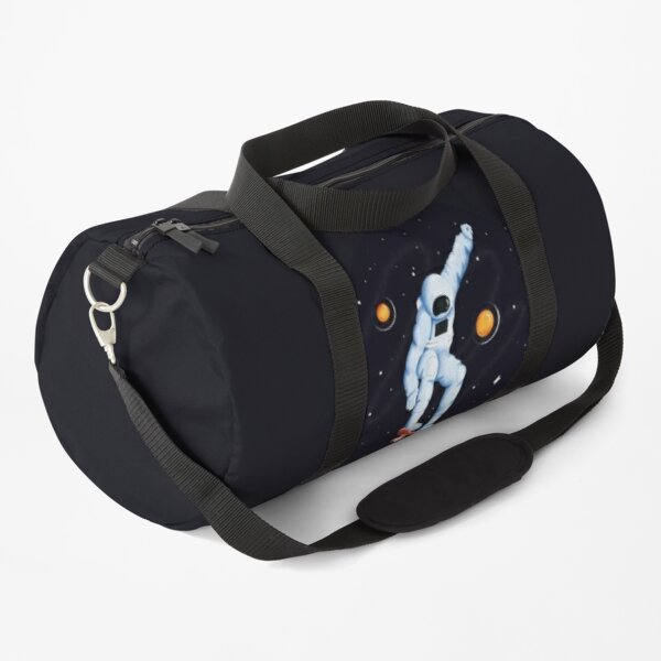 Astronaut Skateboarding in the space & between the stars Duffle Bag