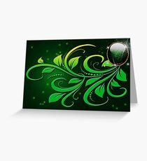 Jewel Card : Green Greeting Card