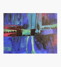 Cityscape in Blue Photographic Print