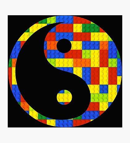 Brick yin and yang Photographic Print