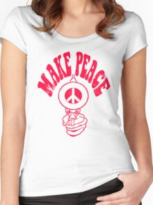 Make Peace Logo Women's Fitted Scoop T-Shirt