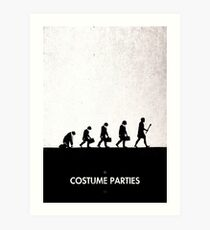 99 Steps of Progress - Costume parties Art Print