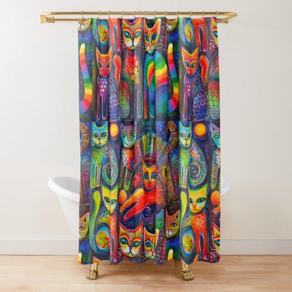 Rainbow cats acrylics Shower Curtain