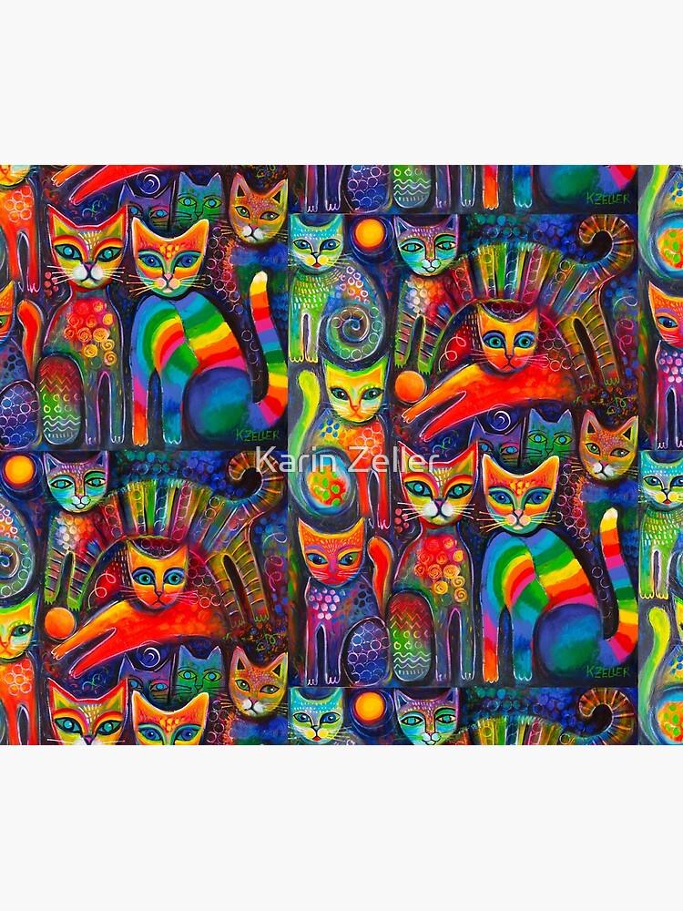 Rainbow cats acrylics by karincharlotte
