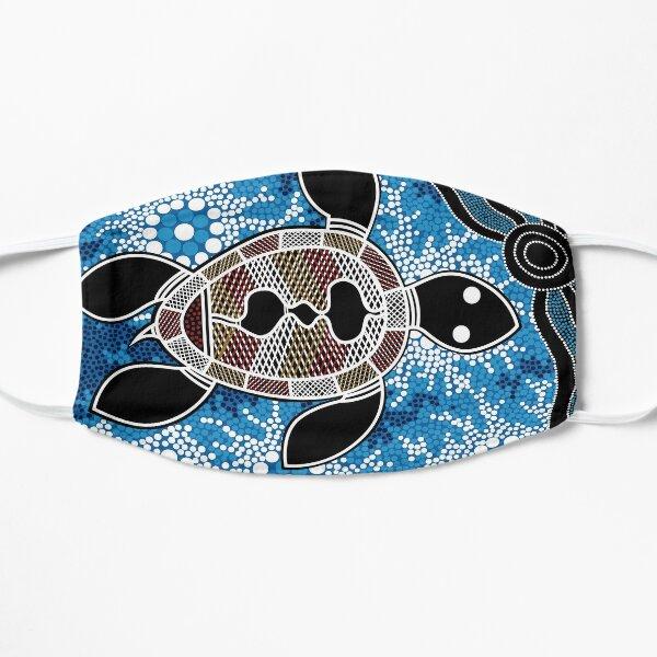 Authentic Aboriginal Art  - Sea Turtles Flat Mask