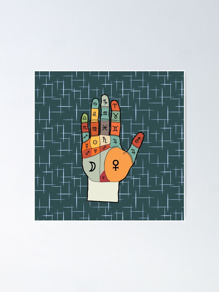 Alternate view of The Mid-Century Palm Reader Poster