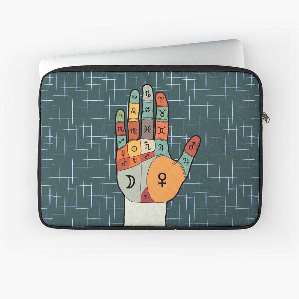 The Mid-Century Palm Reader Laptop Sleeve