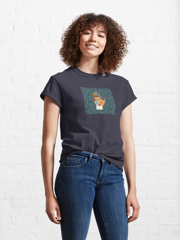 Alternate view of The Mid-Century Palm Reader Classic T-Shirt