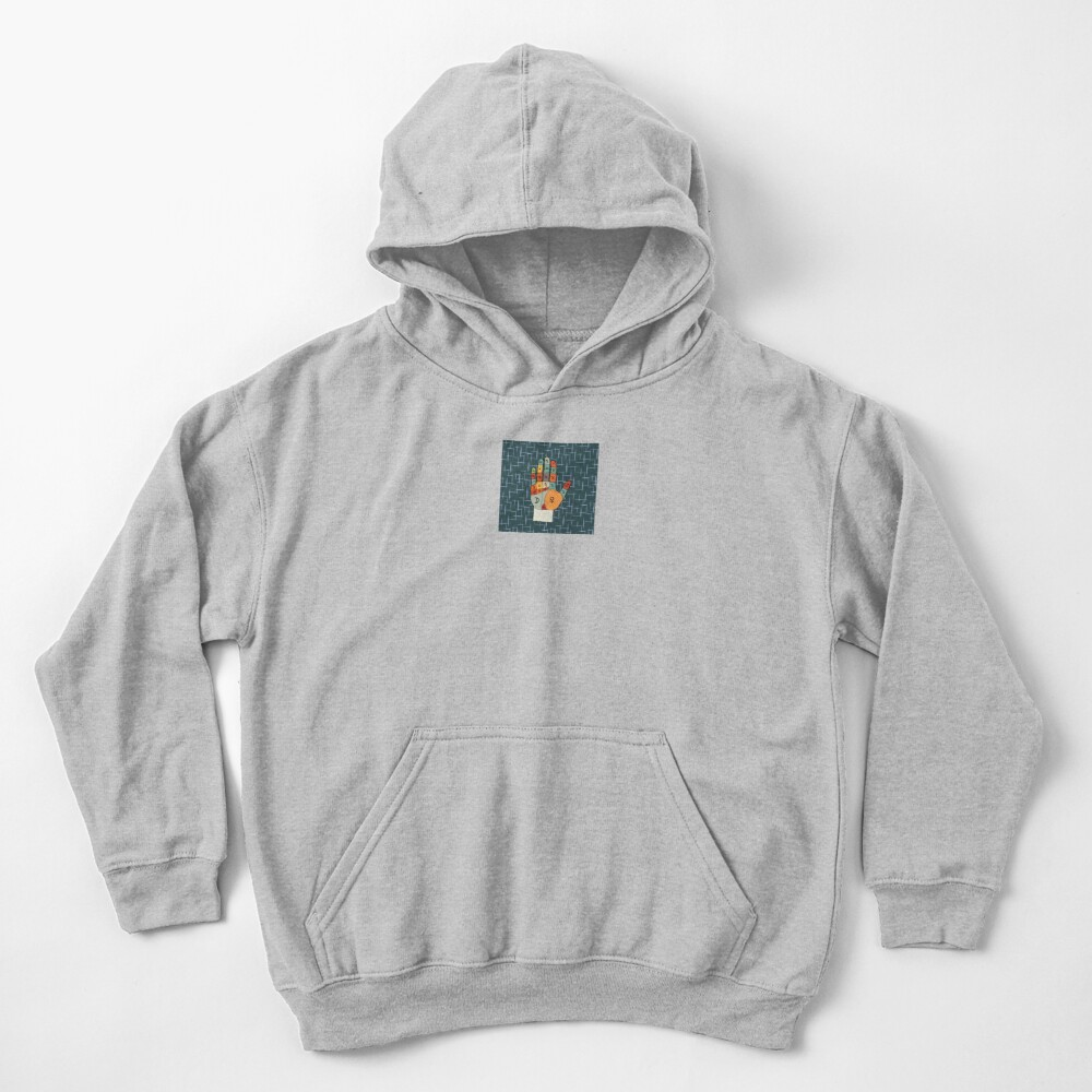 The Mid-Century Palm Reader Kids Pullover Hoodie