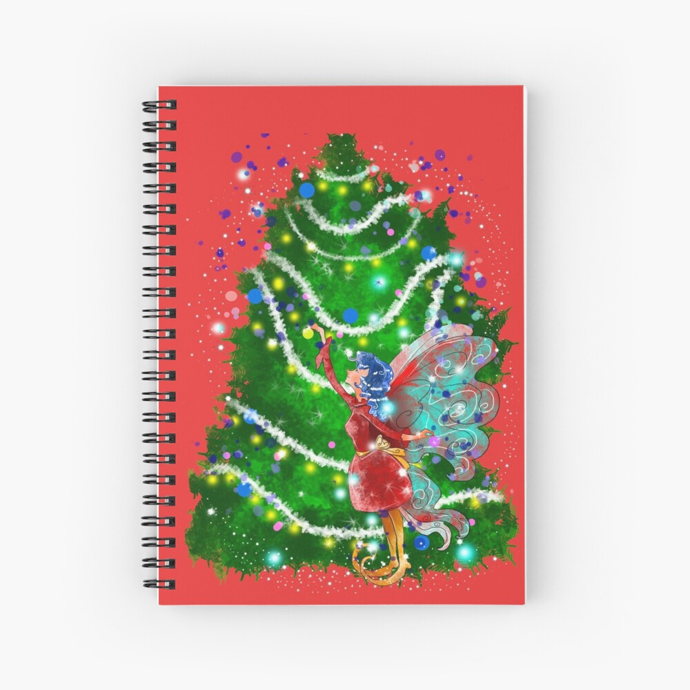 Christalle Shimmershine The Handmade Christmas Items Fairy™ Spiral Notebook