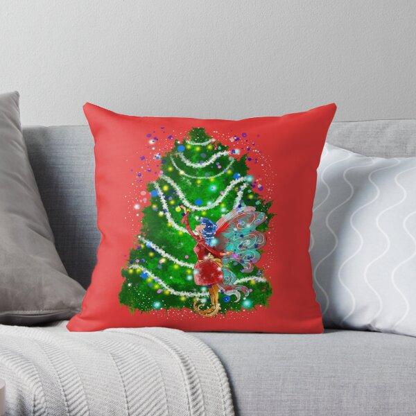 Christalle Shimmershine The Handmade Christmas Items Fairy™ Throw Pillow