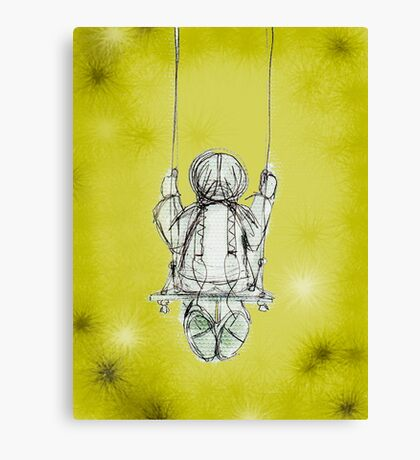 Girl on a swing. Canvas Print
