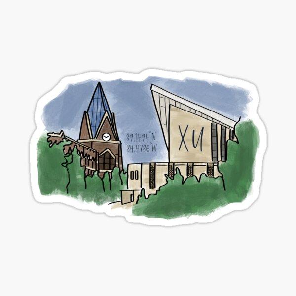 Xavier University Water Color Art Sticker