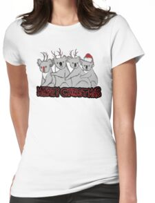 koala kristmas  Womens Fitted T-Shirt