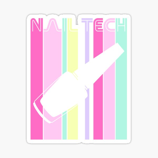 Nail Tech Retro Design Sticker