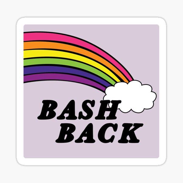 queers bash back | rainbow lgbtqia+ Sticker