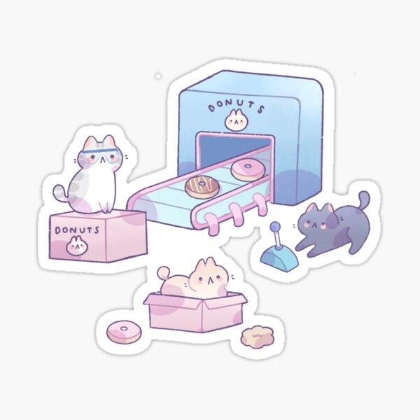 Cats preparing donuts Sticker