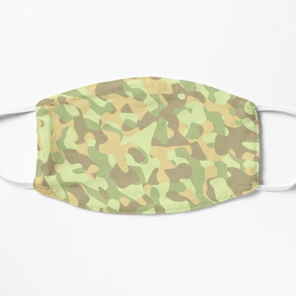 Light Green Yellow Brown Camouflage Camo Pattern Mask