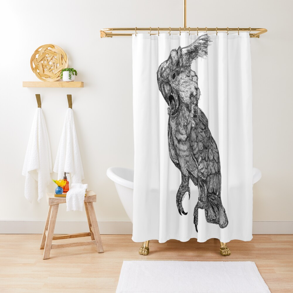 Sassy the Cockatoo Shower Curtain