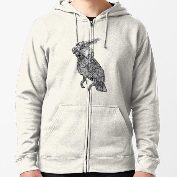 Sassy the Cockatoo Zipped Hoodie