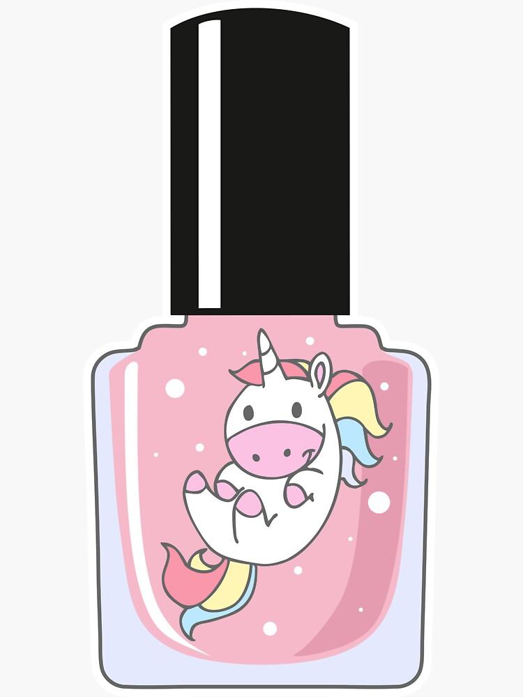 Unicorn Nail Polish Bottle by Papagana